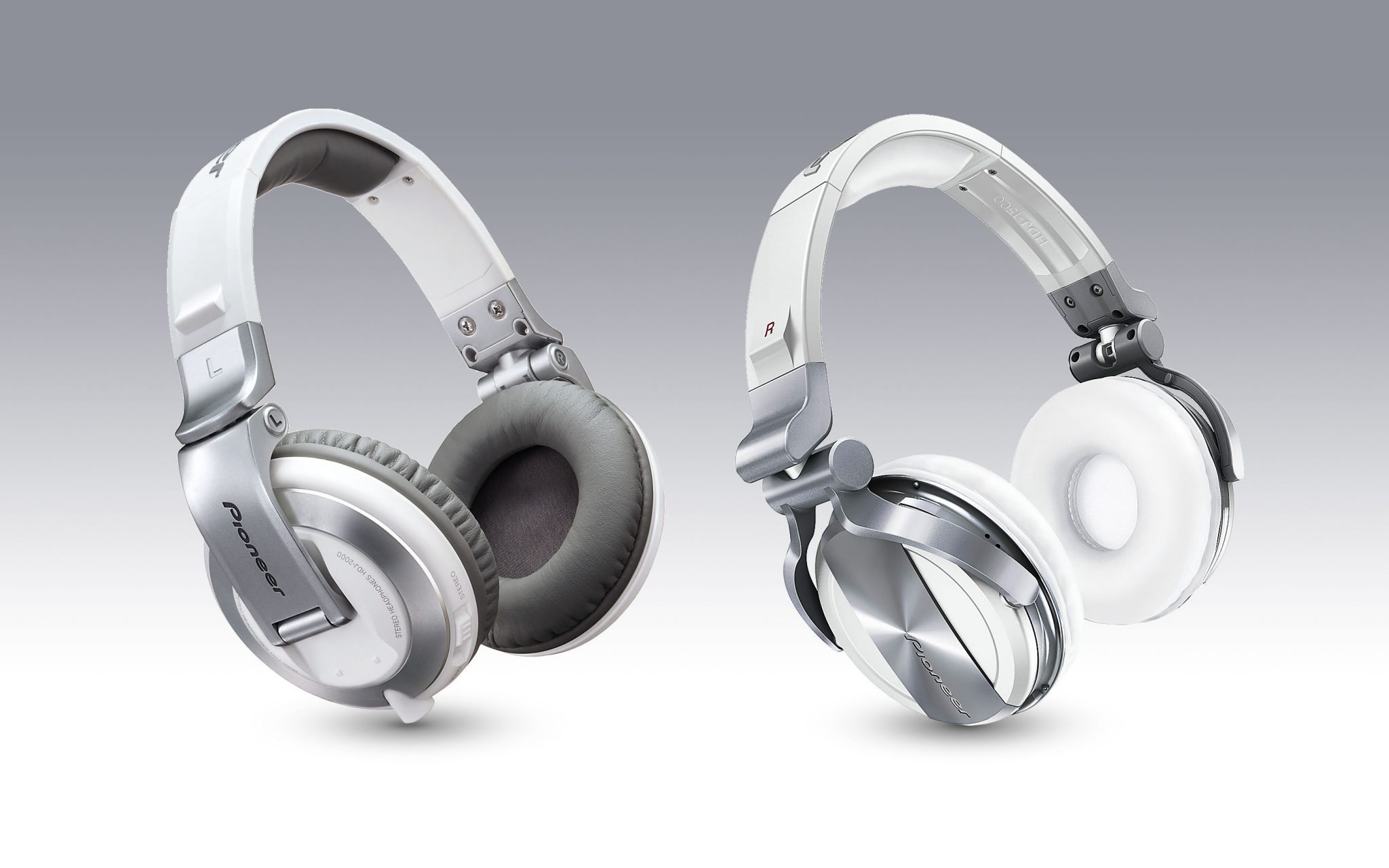 New shiny... err matte white Pioneer HDJ-2000 and 1500 headphones | DJWORX