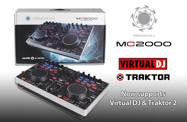 Denon DJ MC2000 Traktor virtual DJ