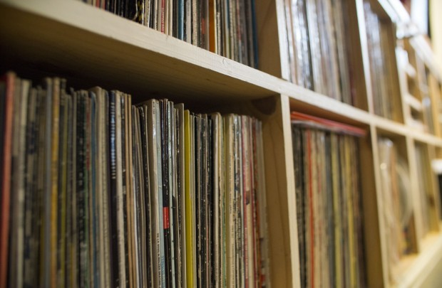 Vinyl collection shelves