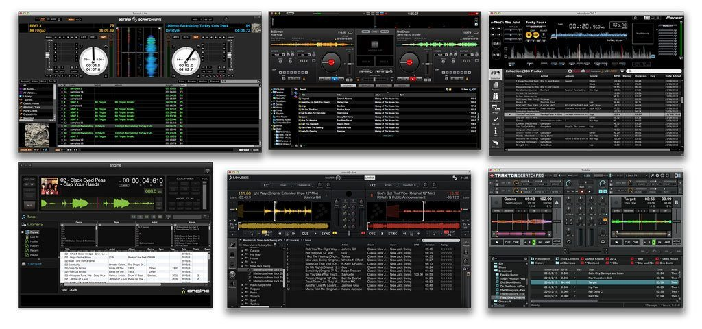 DJ software libraries Mixvibes Traktor rekordbox serato virtual dj denon engine