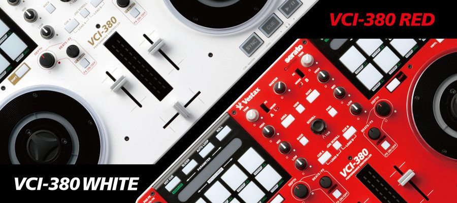 OUT NOW: Vestax VCI-380 in red and white