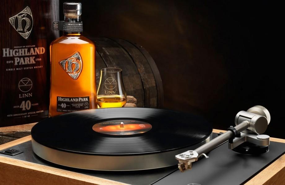 Linn's 40th anniversary Whisky themed LP12 turntable