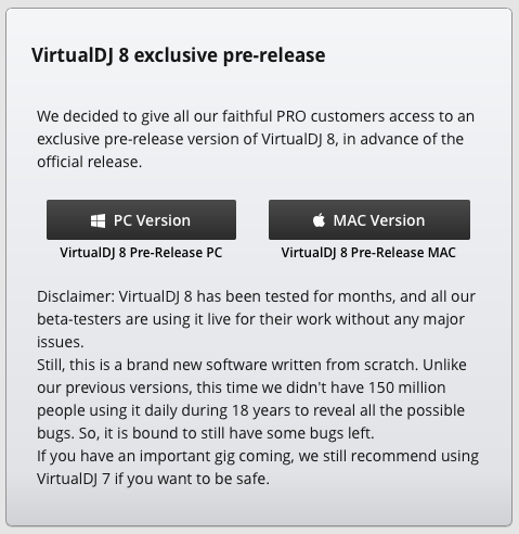 Virtual DJ 8 beta