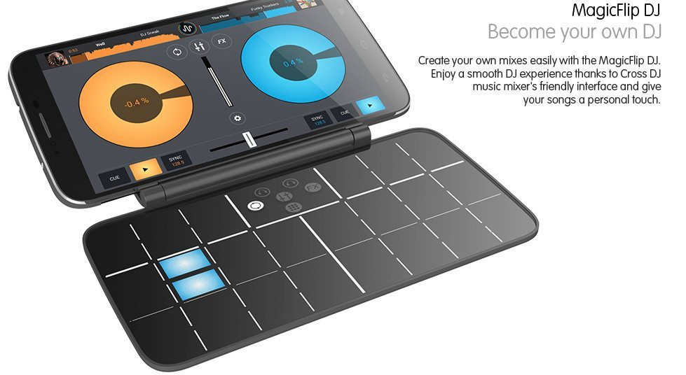Alcatel Hero 2 with MagicFlip DJ smart cover