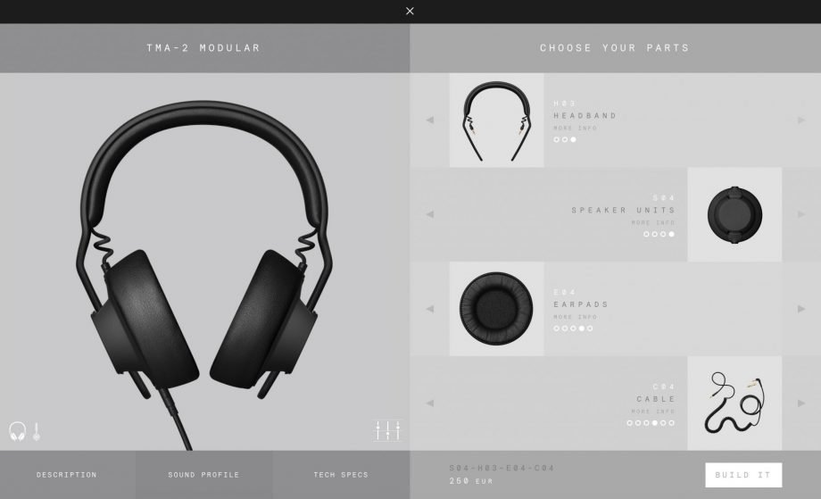 AIAIAI TMA-2 Modular headphones – build your own cans