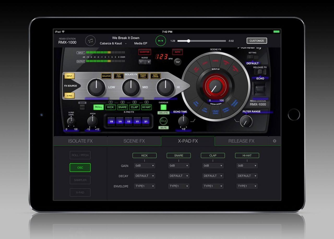 The Pioneer DJ RMX-1000 squeezed into your iPad 3