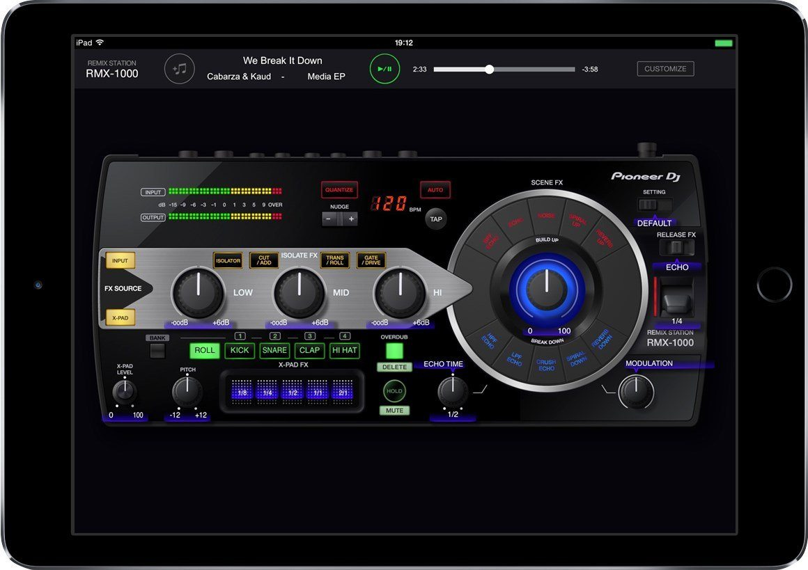 the pioneer dj rmx 1000 squeezed into your ipad djworx. Black Bedroom Furniture Sets. Home Design Ideas