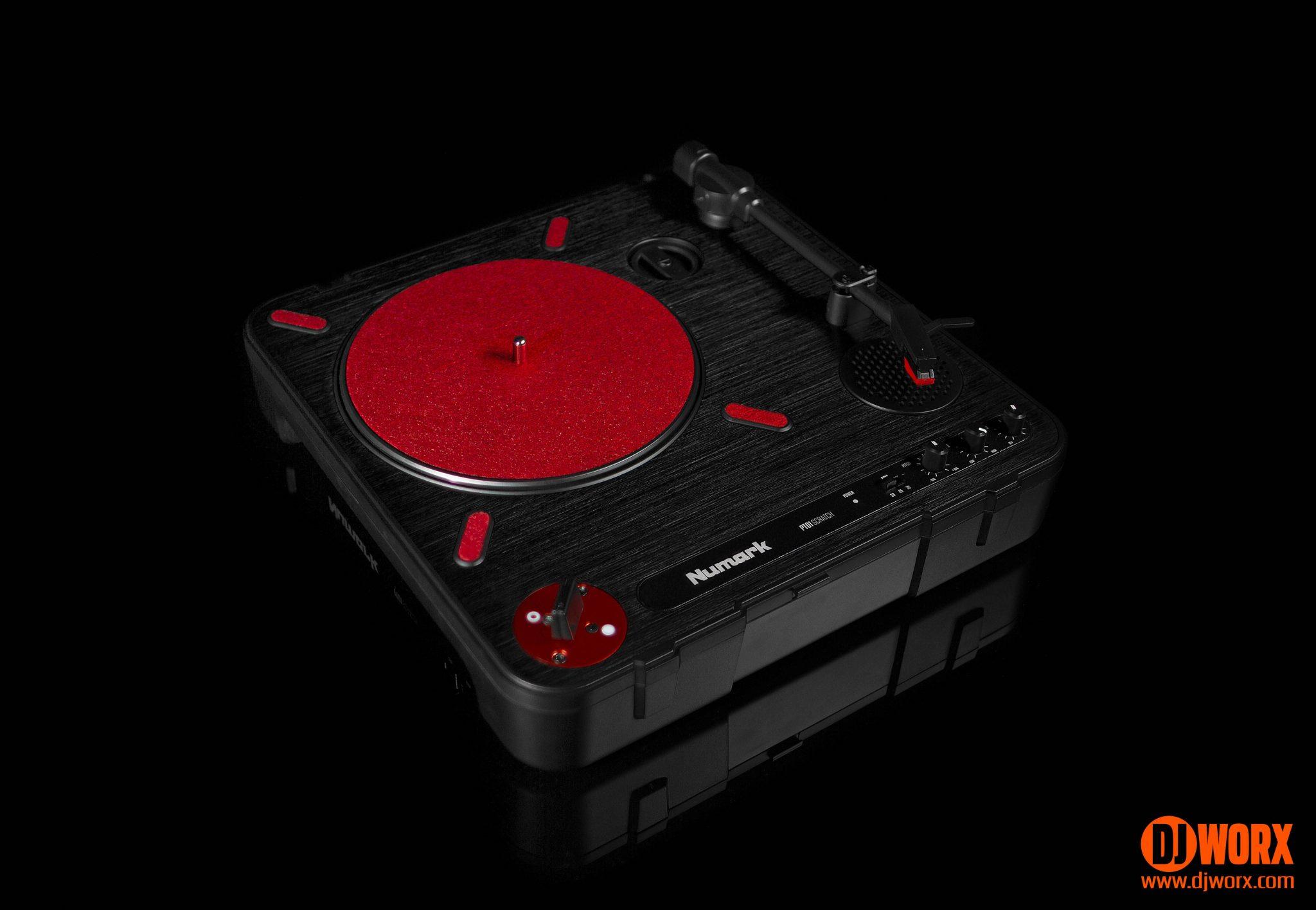 review numark pt01 scratch portable turntable djworx. Black Bedroom Furniture Sets. Home Design Ideas