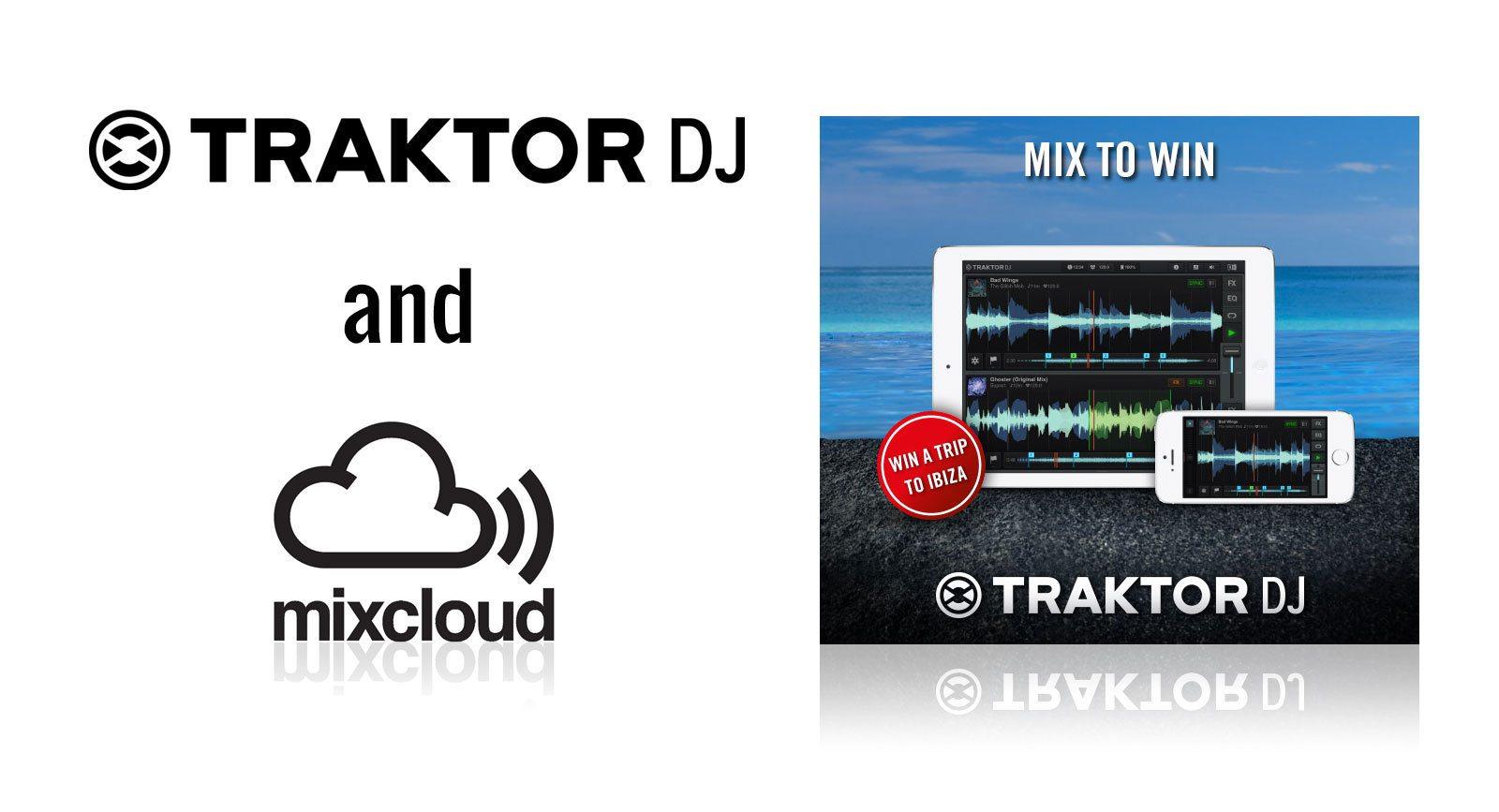 Traktor DJ 1 4 drops with Mixcloud integration and effects