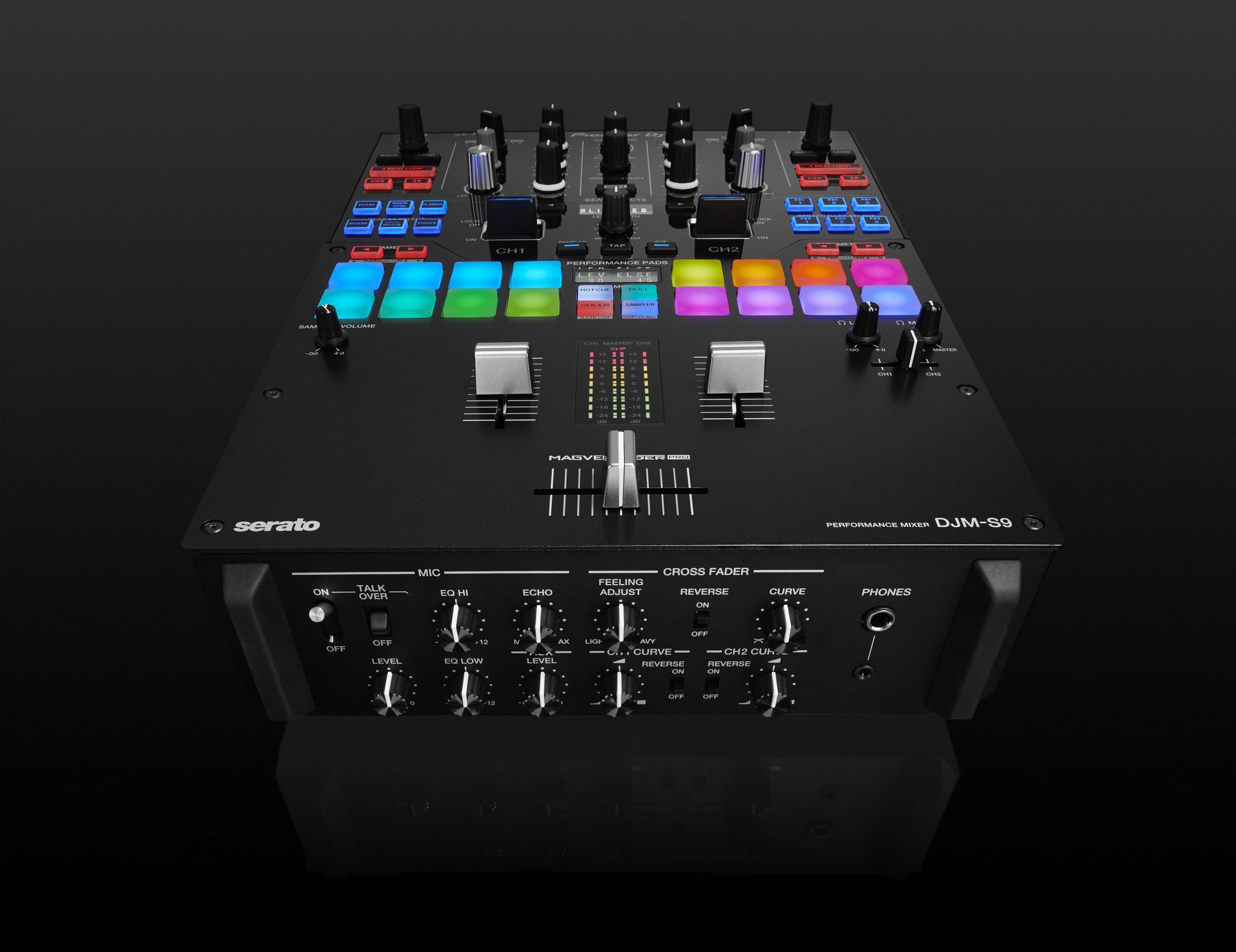 buttons and bling pioneer dj 39 s djm s9 serato dj mixer djworx. Black Bedroom Furniture Sets. Home Design Ideas