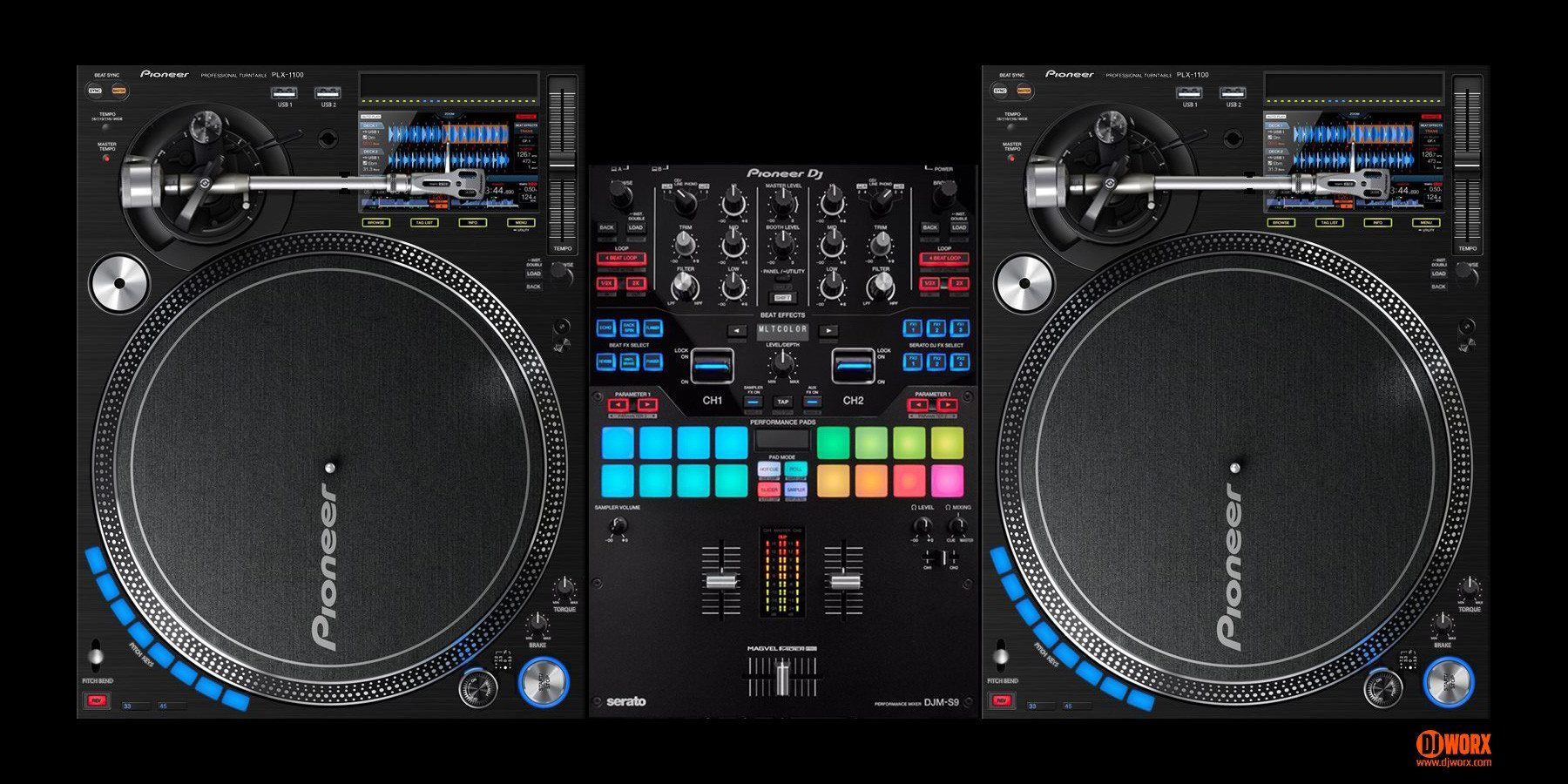 could the next pioneer dj plx 1100 turntable look like this djworx. Black Bedroom Furniture Sets. Home Design Ideas