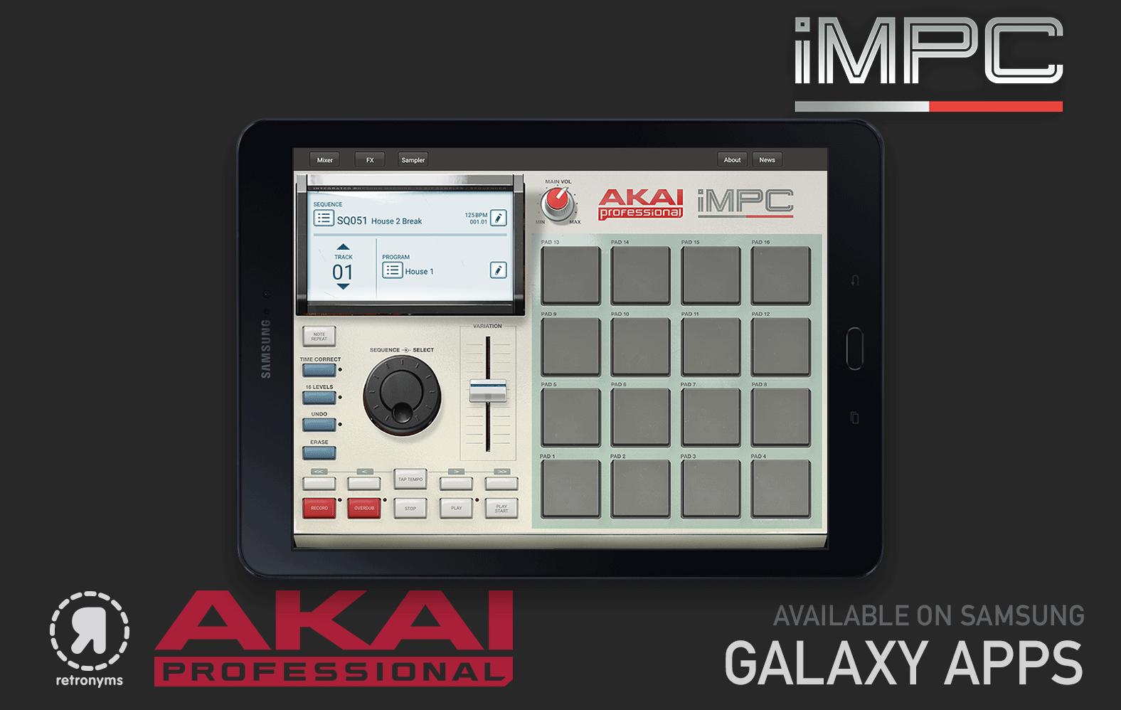 Akai iMPC — now for Samsung Galaxy | DJWORX