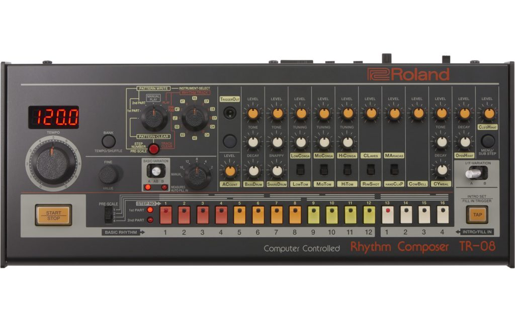 Roland TR-08 TR-808 electro acid drum machine (1)