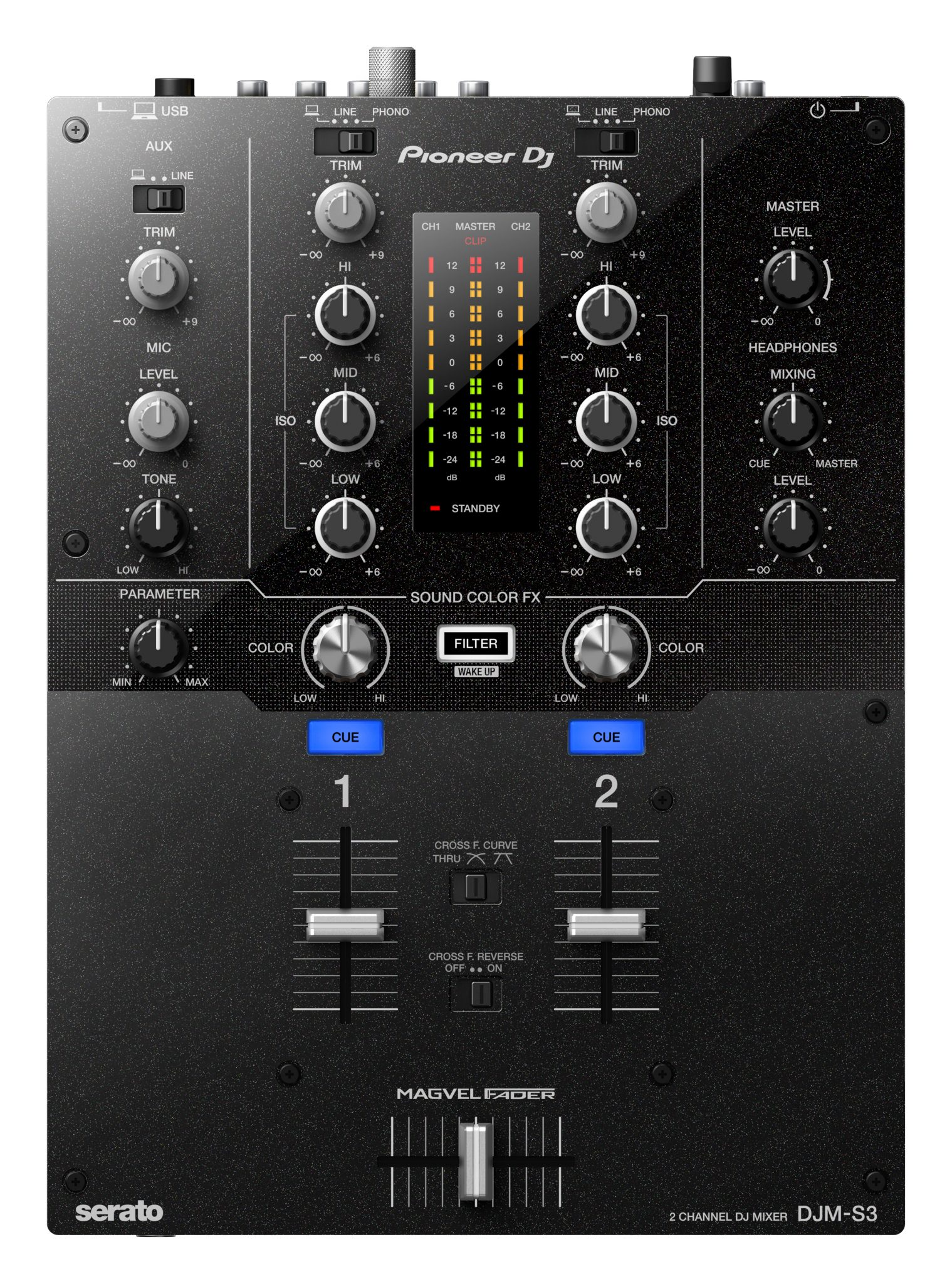 The Pioneer DJ DJM-S3 Serato DJ mixer… looks familiar? 3