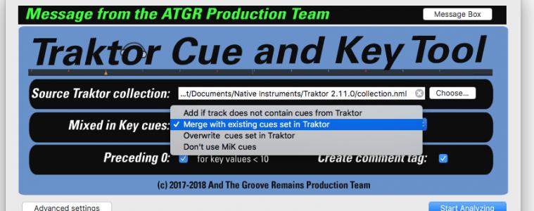 ATGR TCK Main Screen