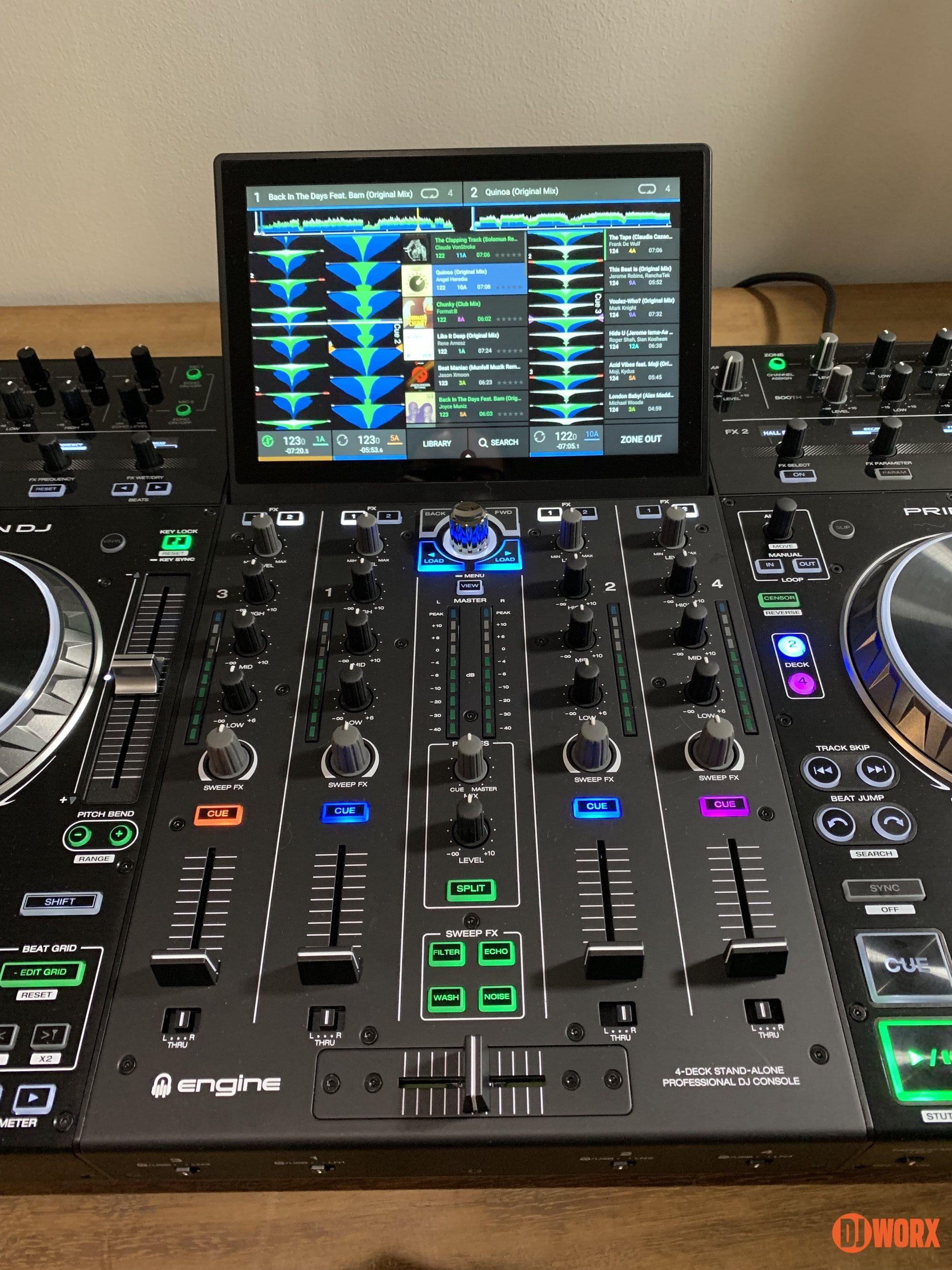 Denon DJ Prime 4 standalone system controller DJWORX (5)
