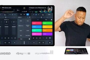 DJ Angelo djay pro ai algoriddim iPad Pro demo performance (1)